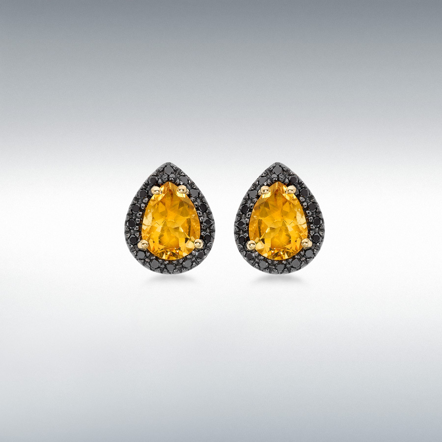 citrine square stud luxury sterling trendy silver of genuine earrings cloths natural zirconia yellow jewelry heaven