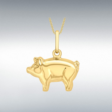 Pendants 9 ct gold ibb london pig pendant mozeypictures Gallery